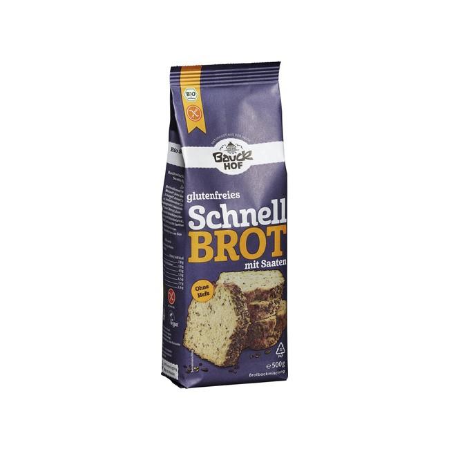 Bauckhof: Schnellbrot mit Saaten, bio (500g)