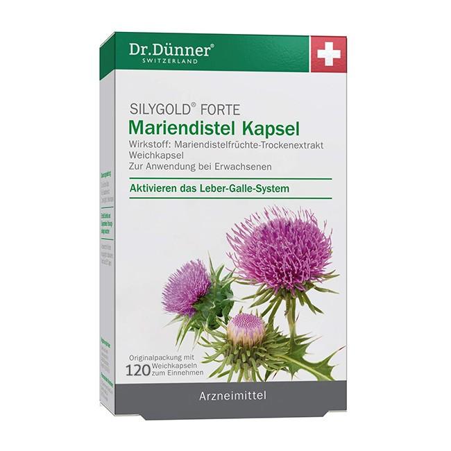 Dr. Dünner Mariendistel Kapseln Syligold (120Stck)