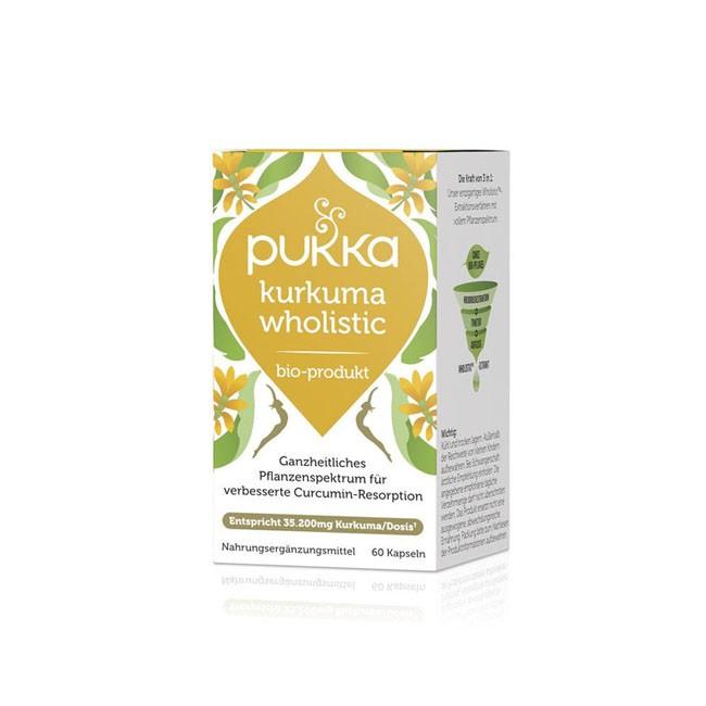 PUKKA Kurkuma Wholistic Kapseln, bio (60 Stk) Nahrungsergänzung