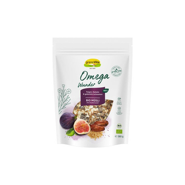 granoVita: Omega Wunder Bio Müsli, 380g