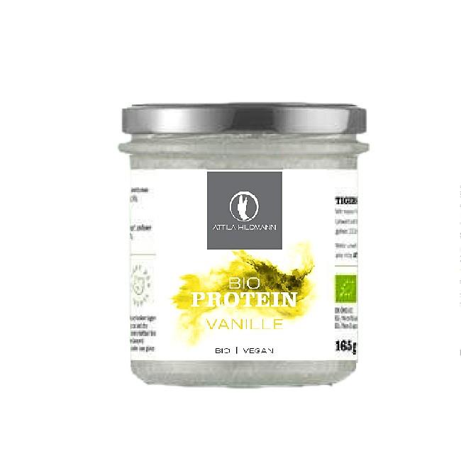Protein Pulver bio und vegan von Attila Hildmann - aus Sonnenblumen und Vanille (165g Glas)
